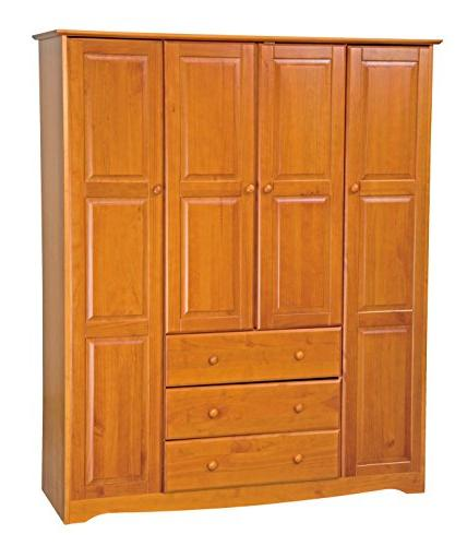 solid wood family wardrobe armoire