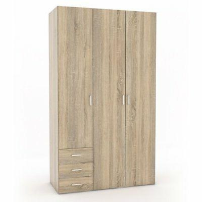 space 3 drawer and 3 door armoire