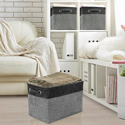 Sorbus Set - x 10 9 Bin Carry for Linens, Toys, Clothes, Room,