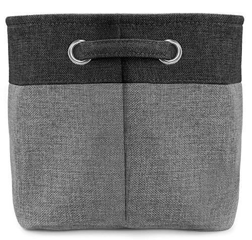 Sorbus Set - x 10 W 9 - Rectangular Fabric Bin Carry Handles for Linens, Toys, Clothes, Room,