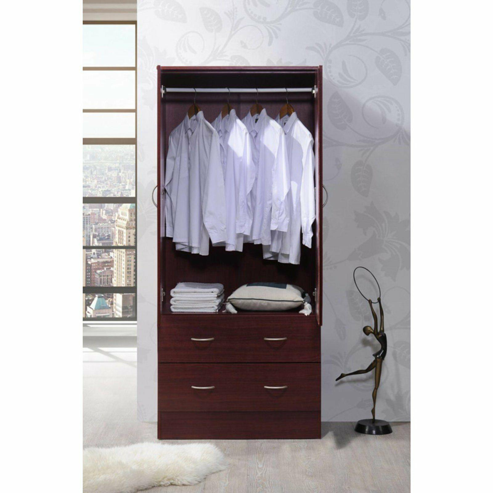 Tall Armoire Wardrobe Closet Storage Cabinet Bedroom Furniture