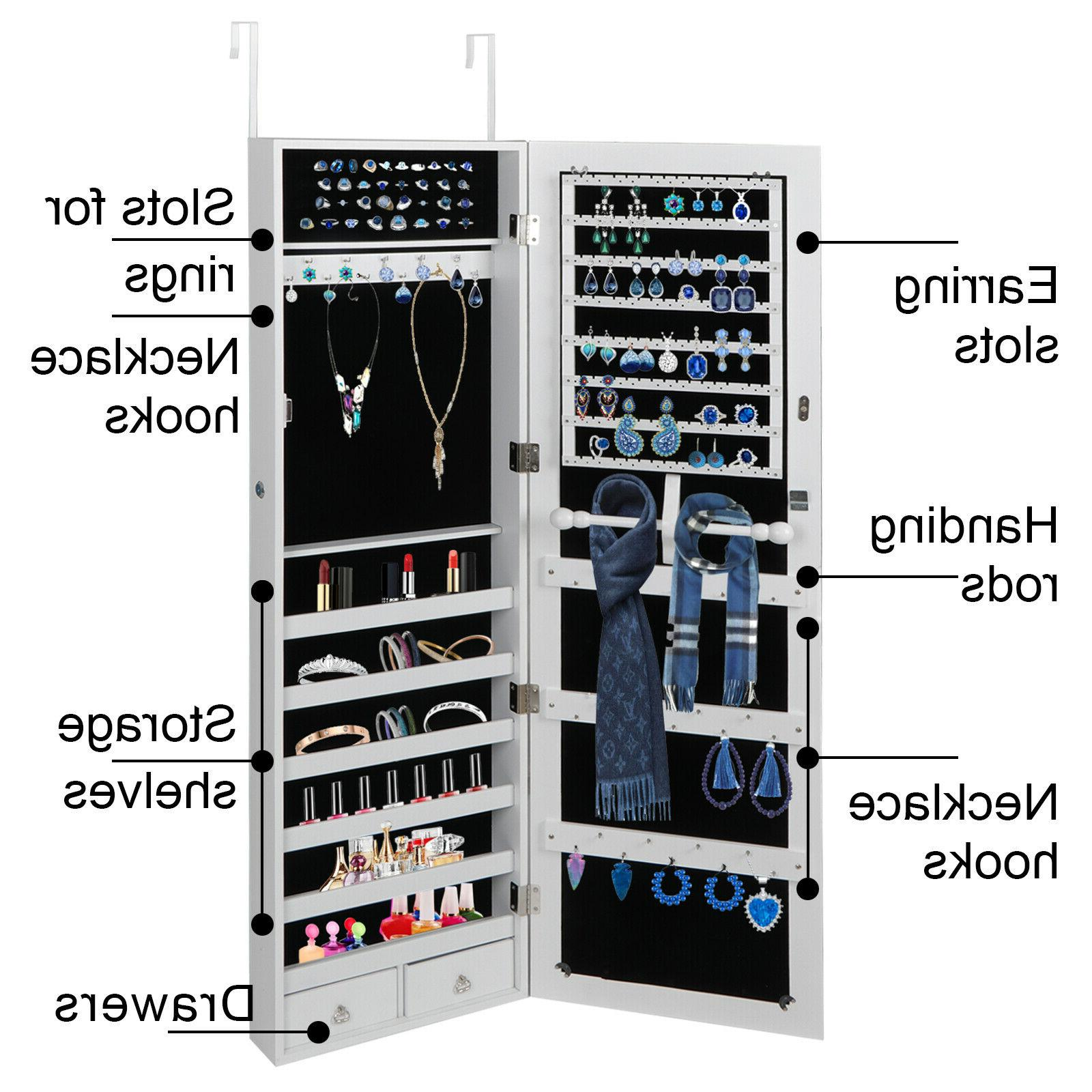wall door mounted jewelry cabinet armoire jewelry