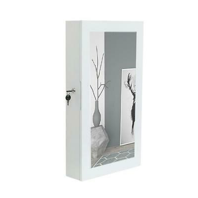 wall mounted mirrored jewelry cabinet armoire storage