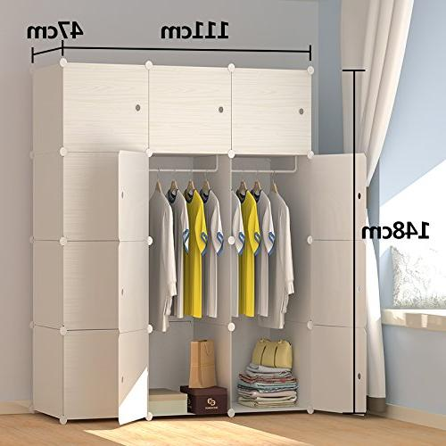 JOISCOPE Portable Closet Modular Cabinet for Space Saving, Ideal Storage Organizer Towels