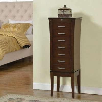 wood seven drawer jewelry armoire