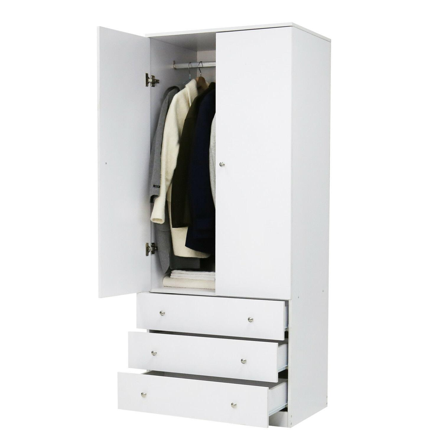 Wood Cabinet Clothes Black