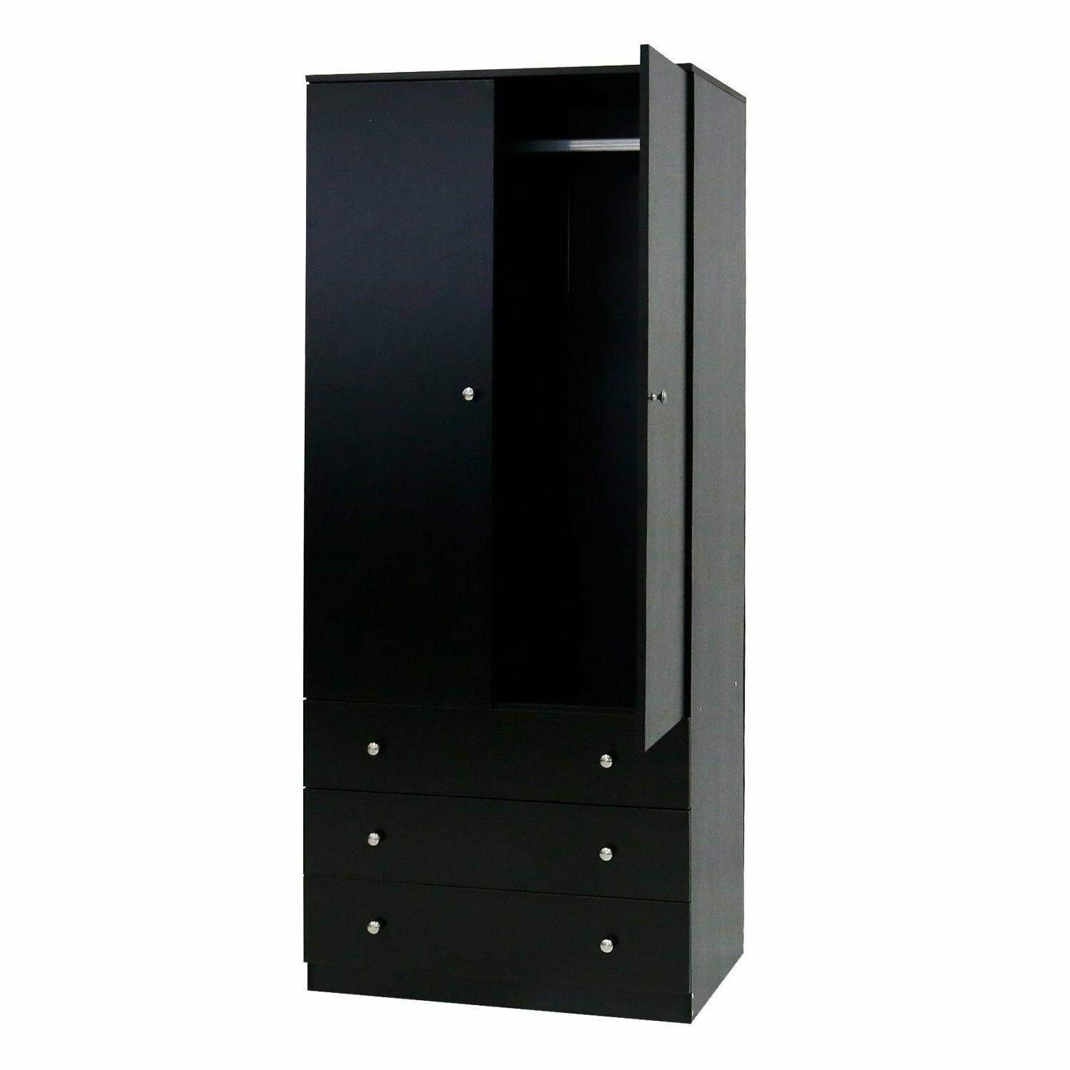 Wooden Cabinet Drawers Black