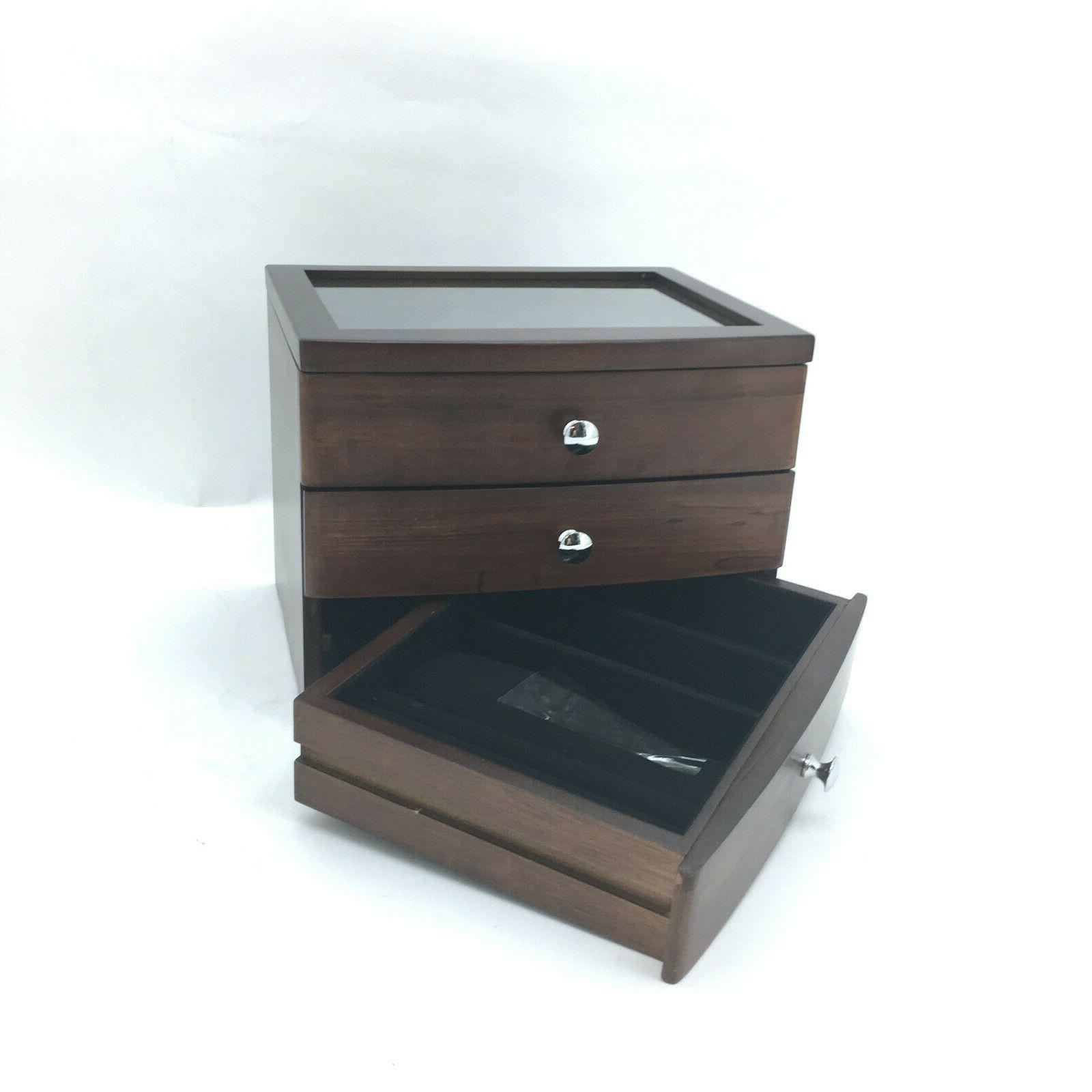Wooden Case Armoire Ring Necklacel