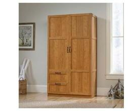 Large Armoire Wooden Wardrobe Storage Cabinet Closet Oak Bed