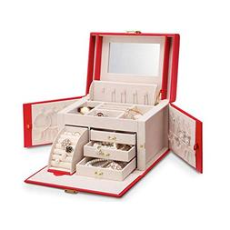 Jewelry Box Large-Capacity Artificial Leather Multi-Layer Mi