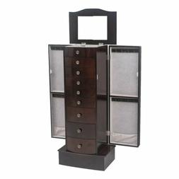 Large Standing Jewelry Armoire Storage Chest Stand with 8 Dr
