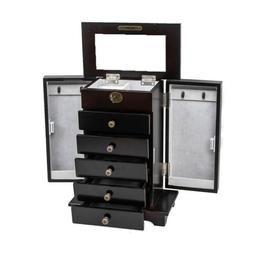 Large Wooden Jewelry Box/Cabinet/Armoire with Lock for Women