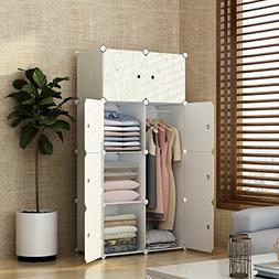 MAGINELS Closet Shelves Wardrobe Clothes Organizer Cube Stor