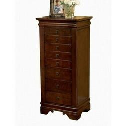 BOWERY HILL Marquis Cherry Jewelry Armoire