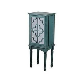 Powell Mazie Jewelry Armoire , Finish - Teal , Material - Md