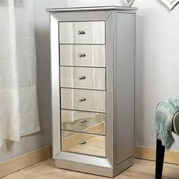 Hives and Honey Mia Jewelry Armoire Metallic Silver