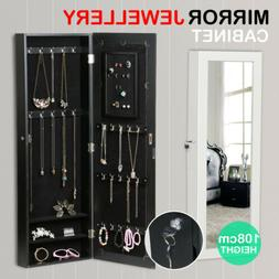 Mirror Jewelry Cabinet Armoire for Mirror Rings, Necklaces,