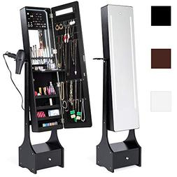 Best Choice Products Standing Full Length LED Mirrored Jewel