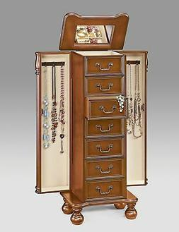 Darby Home Co Mission Wood Free Standing Jewelry Armoire