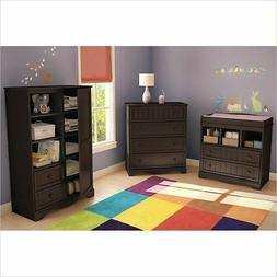 Modern Baby Furniture Sets Espresso Changing Table Dresser N