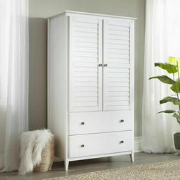 Modern Farmhouse Armoire Wardrobe Closet Dresser Storage Org
