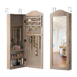 Jewelry Cabinet Wall/Door Mounted Rustic Jewelry Armoire Org