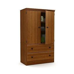 South Shore Morgan 2-Door Armoire with Drawers, Morgan Cherr