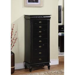 Eziba Morre Eight-Drawer Jewelry Armoire - 42 x 20 x 14.5 -