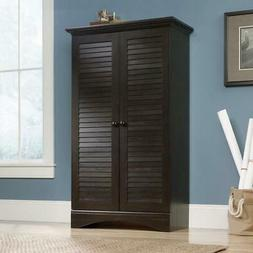 Multi-Purpose Wardrobe Armoire Storage Cabinet in Dark Brown
