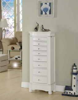 Nathan Direct Muscat 8 Drawer Jewelry Armoire with 2 Side Co