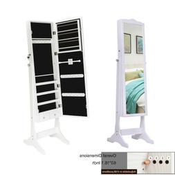 "New 47"" Jewelry Mirror Cabinet Armoire Wall/Door Holder Stor"