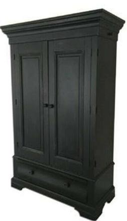 new country armoire charcoal black for wardrobe