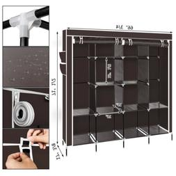 New Portable Clothes Rack Holder Closet Armoire Wardrobe Gar