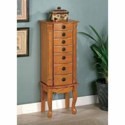 Coaster Furniture Oak Wood Jewelry Armoire