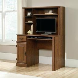 Sauder Orchard Hills Computer Desk with Hutch in Milled Cher
