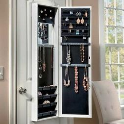 Over The Door Jewelry Armoire Mirror Wall Mount Full Length
