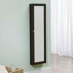 FirsTime Over-the-Door Mirror Jewelry Armoire - 14W x 47H in