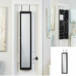 Over the Door/Wall Mount Mirrored Jewelry Armoire FULL Cabin