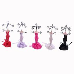 Pinup - Set of 5 Dress Up Doll Necklace Display - Mini Jewel