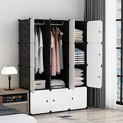 MAGINELS Portable Closet Clothes Wardrobe Bedroom Armoire St
