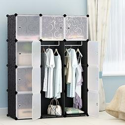 MAGINELS Portable Clothes Closet Modular Plastic Wardrobe Fr