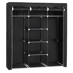 SONGMICS Portable Clothes Closet Non-Woven Fabric Wardrobe D