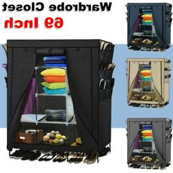 Portable Closet Storage Organizer Armoire Wardrobe Clothes R