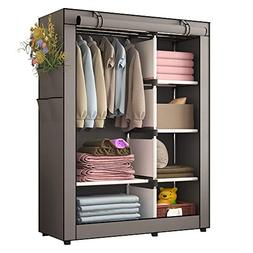 UDEAR Portable Clothes Closet Wardrobe Storage Organizer wit