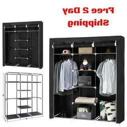 Portable Clothes Closet Wardrobe Bedroom Storage Organizer D