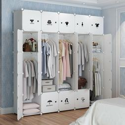 MAGINELS Portable Clothes Closet Wardrobe Dresser Storage Or