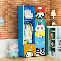 MAGINELS Portable Kid Wardrobe Child Dresser Clothes Closet