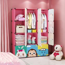 MAGINELS Portable Kids Wardrobe Children Dresser Clothes Clo
