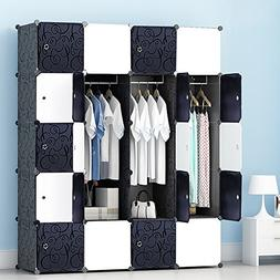 MEGAFUTURE Portable Wardrobe for Hanging Clothes, Wall Déco