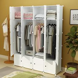 KOUSI Portable Wardrobe Closet for Bedroom Clothes Armoire D